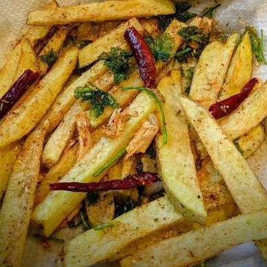 Garhwali Potato Fries- Aloo Churchurri