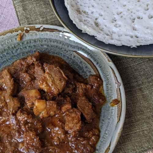 Varkenvlees curry uit Kerala